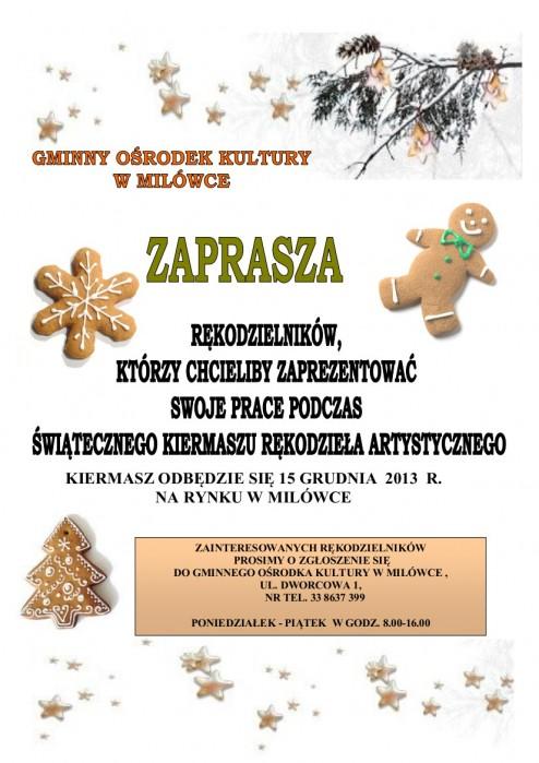 Zaproszenie do udziału w kiermaszu świątecznym