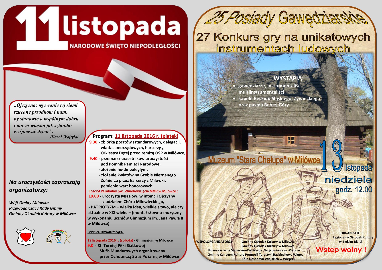 11 Listopad oraz Posiady Gawędziarskie