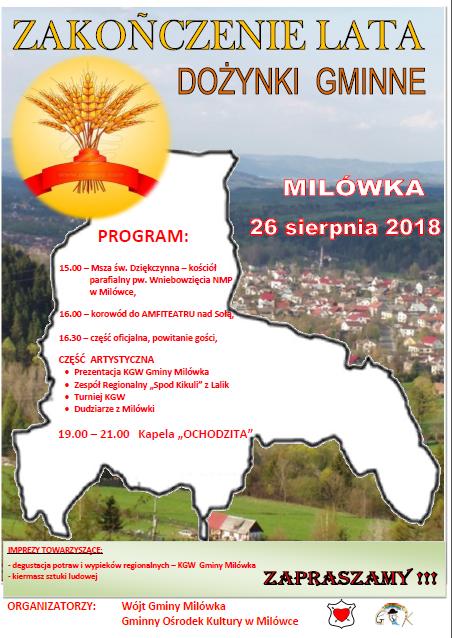 Zakończenie lata i dożynki gminne 2018 w Milówce