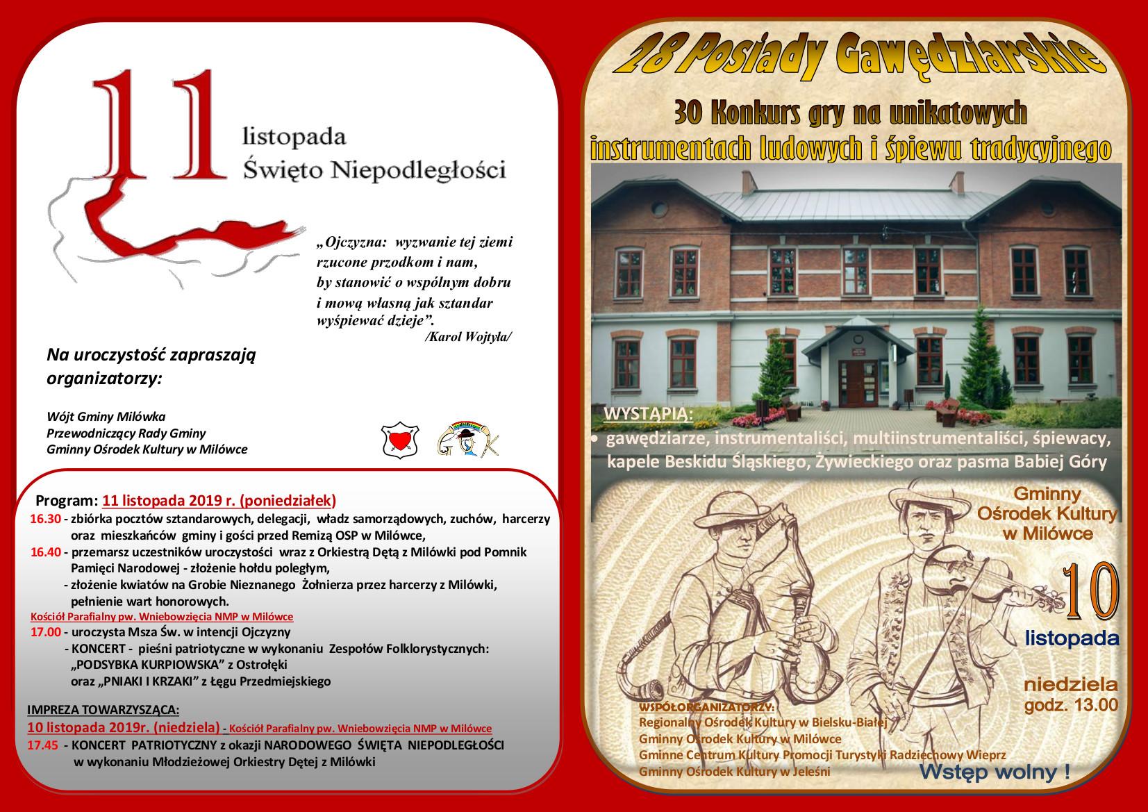 Święto Niepodległości i Posiady Gawędziarskie