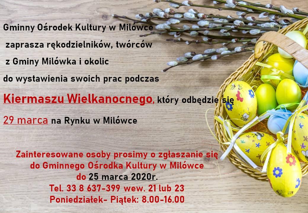 Kiermasz Wielkanocny – ogłoszenie
