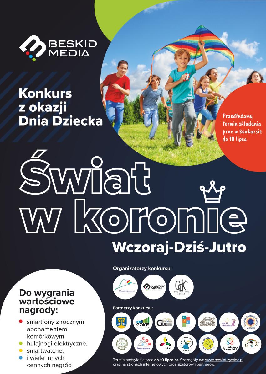 """Konkurs powiatowy """"Świat w koronie"""" – przedłużenie terminu"""