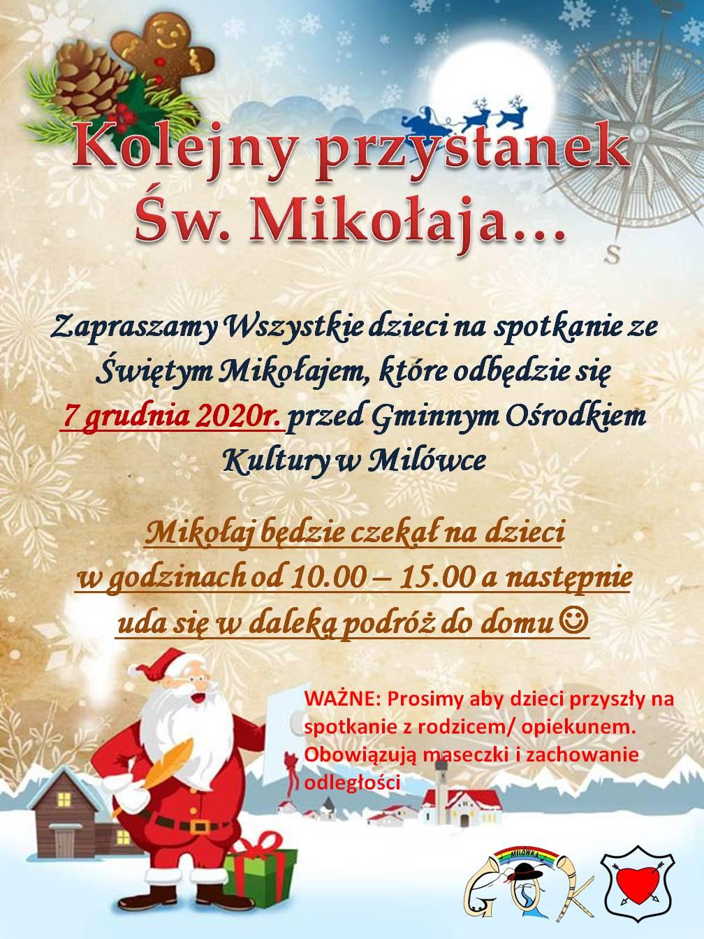Święty Mikołaj przyjedzie do GOK-u :)