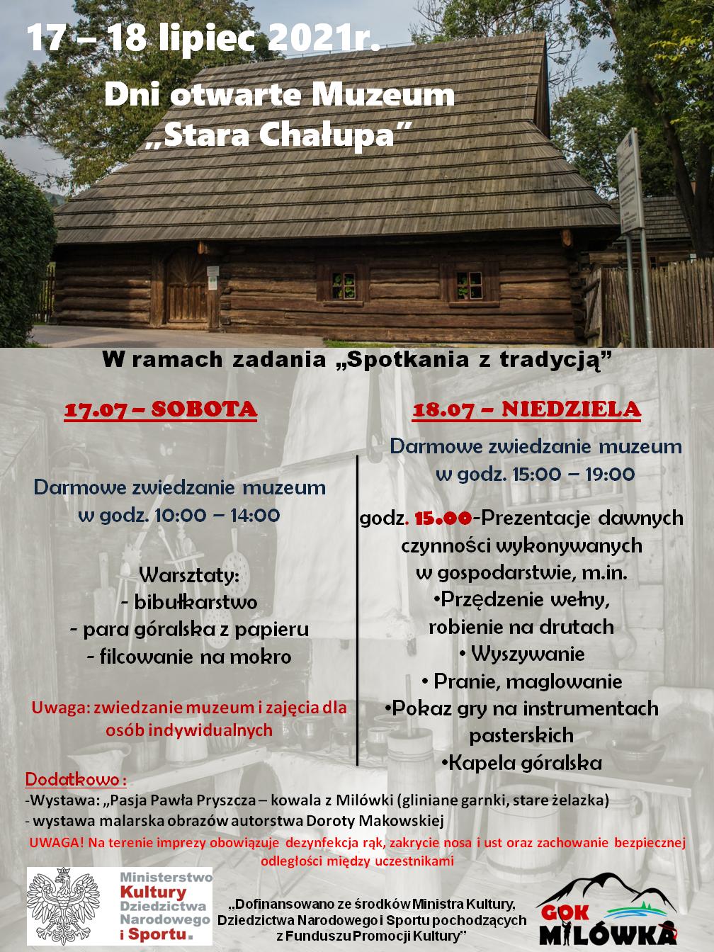 """Dni otwarte Muzeum """"Stara Chałupa"""""""